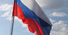 Russian Flag on Board Boat
