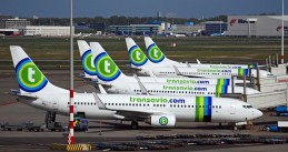Transavia airplanes at Schiphol