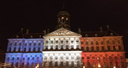 Royal Palace, Dam Square, Amsterdam after Paris Attacks