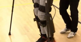 Disabled man's exoskeleton